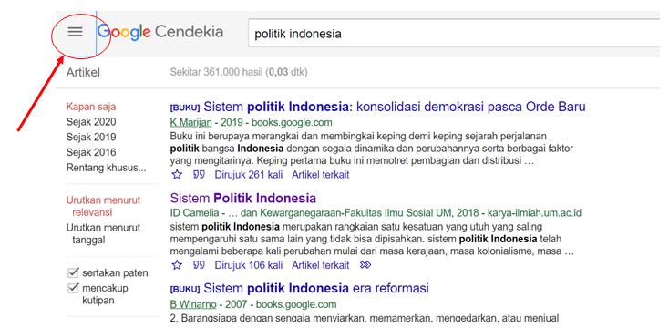 Memanfaatkan Fungsi Notifikasi Google Cendekia