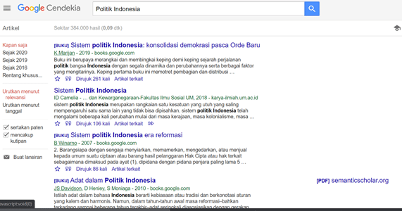 Mencari Topik di Google Cendekia 2