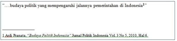 Penulisan Footnote1