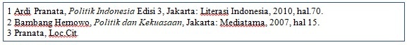 Penulisan Footnote - Loc.Cit